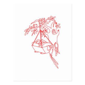 Bebé del Roca-uno-Adiós Postal