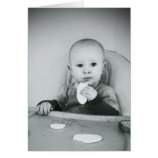 Bebé divertido de la torta de la tarjeta de