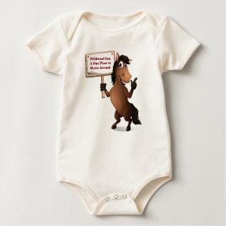 Bebé divertido Onsie del caballo Body Para Bebé