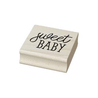 Bebé dulce, fiesta de bienvenida al bebé sello de caucho