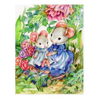 Bebé dulce - postal linda del arte del ratón