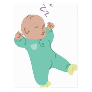 Bebé durmiente postal