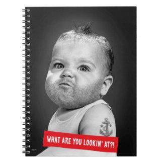 Bebé duro de Beared Cuaderno