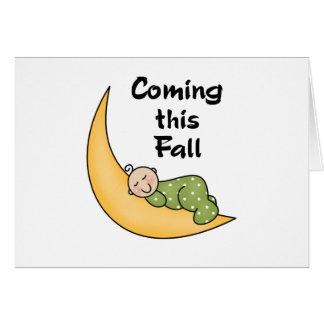 Bebé el caída de la luna tarjeta de felicitación