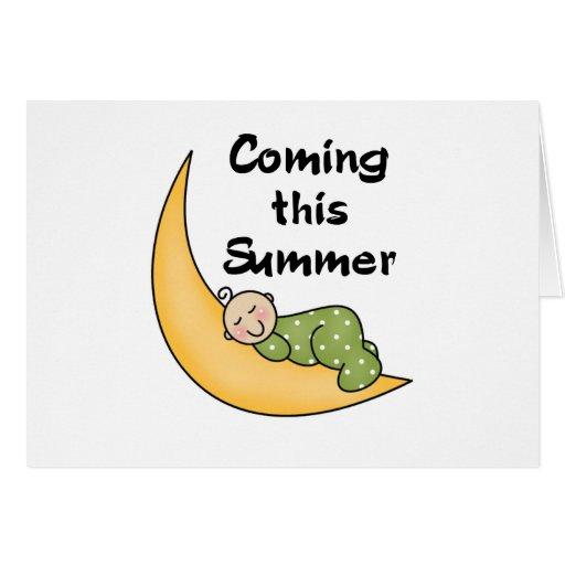 Bebé el verano de la luna felicitación