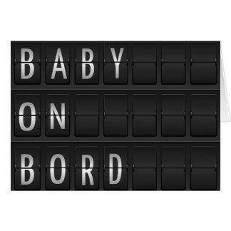 bebé en bord tarjeta