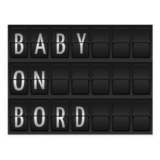 bebé en bord postal