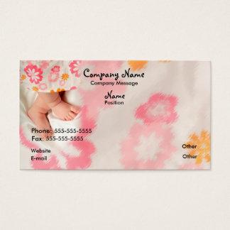 Bebé en rosa tarjeta de negocios