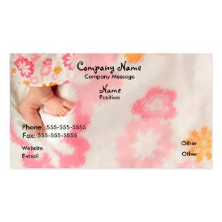 Bebé en rosa tarjetas de visita