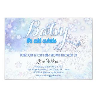 Bebé es fiesta de bienvenida al bebé exterior fría invitación 8,9 x 12,7 cm