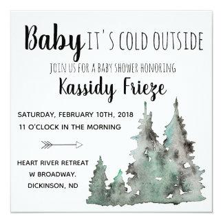 Bebé es invitaciones exteriores frías de la fiesta