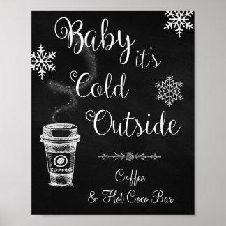 Bebé es muestra exterior fría del boda póster