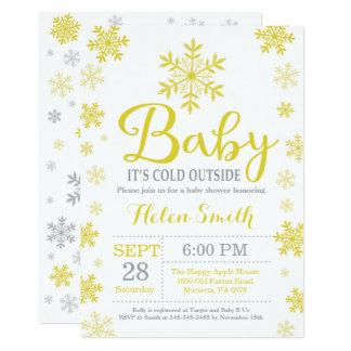 Bebé es tarjeta exterior fría de la fiesta de