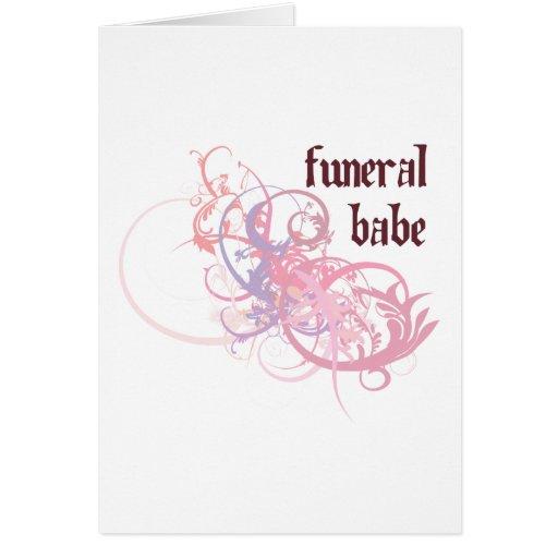 Bebé fúnebre tarjeton