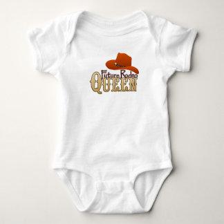 Bebé futuro de la reina del rodeo body para bebé