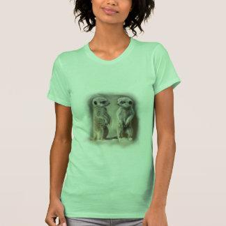 Bebé gemelo Meerkats Camiseta