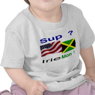 Bebé jamaicano del yanqui camiseta