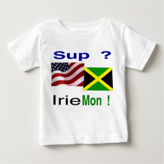 Bebé jamaicano del yanqui camisetas