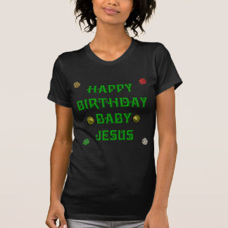 Bebé Jesús #1 del feliz cumpleaños Camisetas