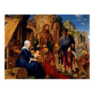 Bebé Jesús de la adoración de unos de los reyes Postal