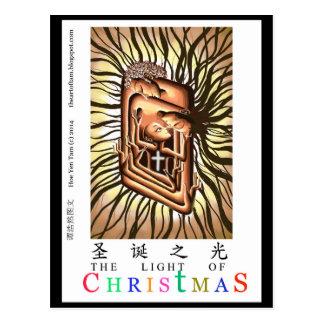 Bebé Jesús de la escena de la natividad Postal