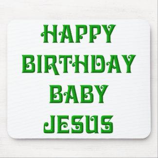 Bebé Jesús del feliz cumpleaños Alfombrilla De Ratones