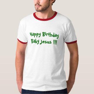 ¡Bebé Jesús del feliz cumpleaños!!! Camiseta