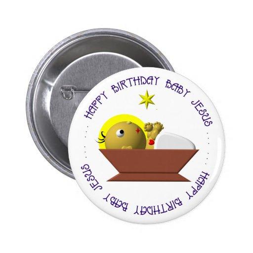 Bebé Jesús del feliz cumpleaños Pins