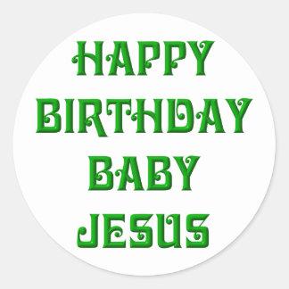Bebé Jesús del feliz cumpleaños Etiquetas