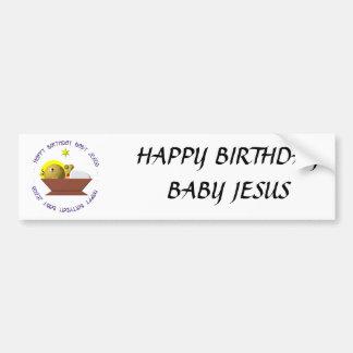 Bebé Jesús del feliz cumpleaños Pegatina Para Coche