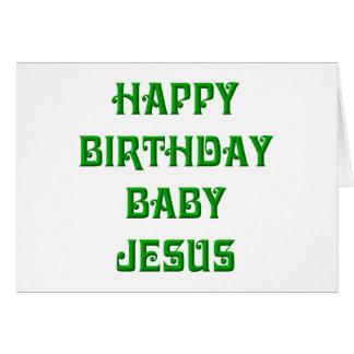 Bebé Jesús del feliz cumpleaños Tarjetas