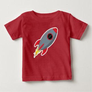 Bebé lindo de la camiseta de la nave de Rocket -