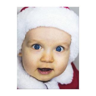 Bebé lindo del navidad impresión en lienzo