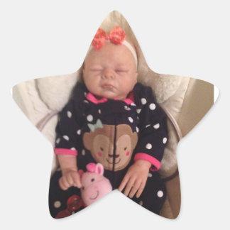 Bebé lindo pegatina en forma de estrella