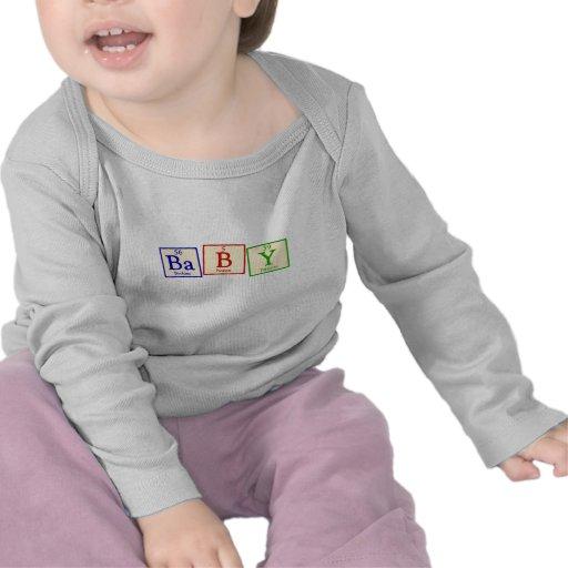 Bebé - manga larga infantil del friki de la químic camiseta
