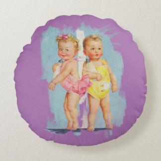 Bebé/niña - fondo adaptable cojín redondo