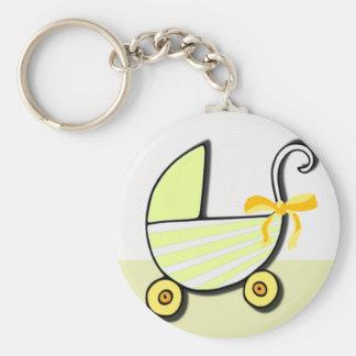 Bebé o fiesta de bienvenida al bebé agradable llavero redondo tipo chapa