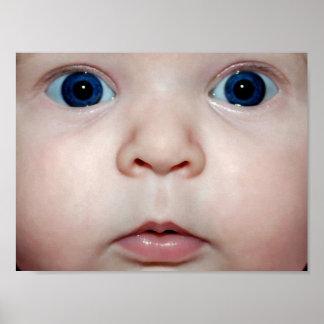 Bebé ojo póster