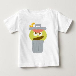 Bebé Óscar el Grouch en Trashcan Camiseta De Bebé