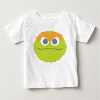 Bebé Óscar la cara grande del Grouch Camiseta De Bebé