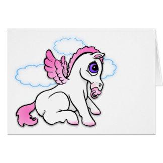 Bebé Pegaso con - rosa - la tarjeta binky