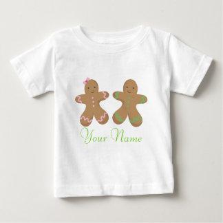 Bebé personalizado gemelo de la galleta del pan de camisas