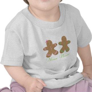 Bebé personalizado gemelo de la galleta del pan de camiseta