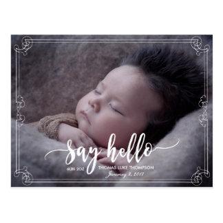 bebé personalizado postal de la invitación del