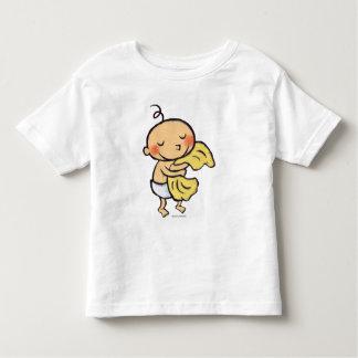 Bebé que abraza la manta amarilla suave camiseta