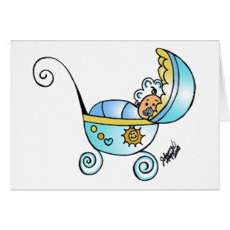 bebé recién nacido tarjeta de felicitación