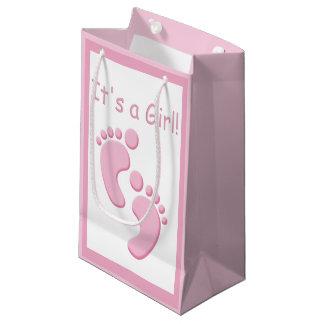 Bebé SGB de los pequeños pies de la niña nuevo Bolsa De Regalo Pequeña