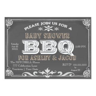 Bebé ShowerbInvitations del Bbq Invitación 12,7 X 17,8 Cm