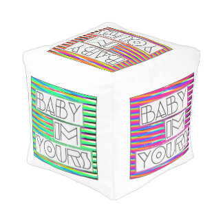 Bebé soy el suyo cubo diverso pouf