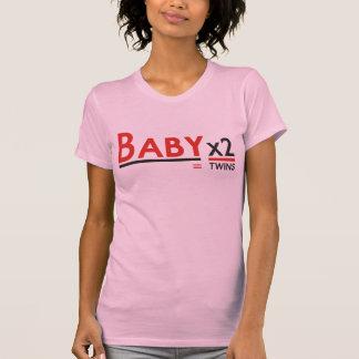 Bebé x 2 camiseta